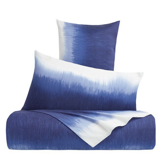 Cotton percale duvet cover with degradé pattern