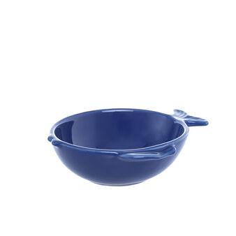 Solid colour fish-shaped ceramic bowl