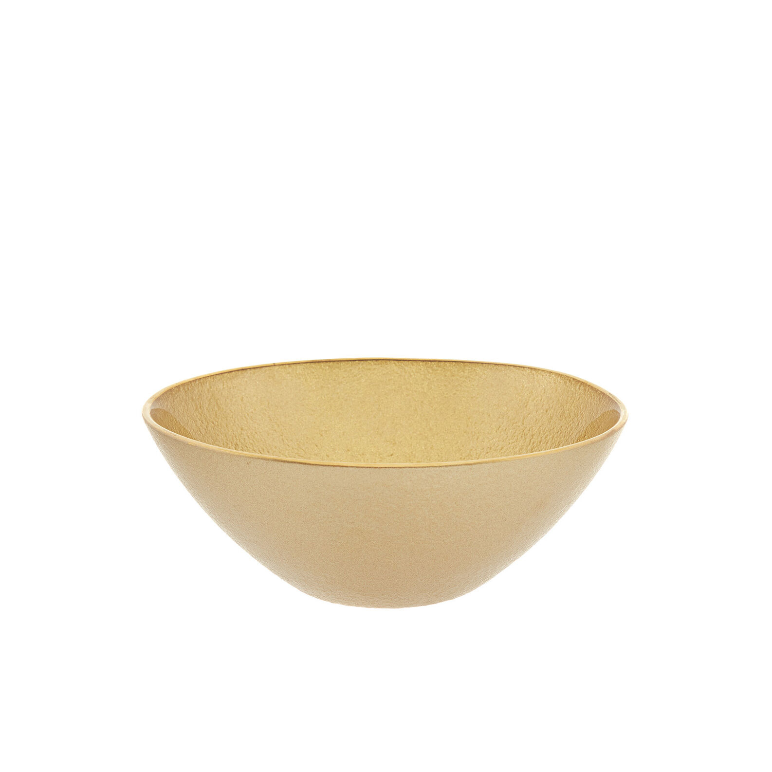 Small gold glass bowl