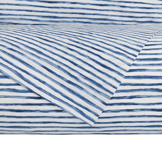 Parure Duvet cover in cotton percale with striped pattern
