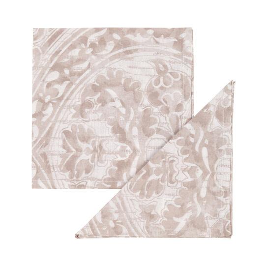 Set 4 tovaglioli puro cotone damascato