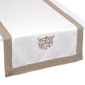 Burano Lace embroidered table runner