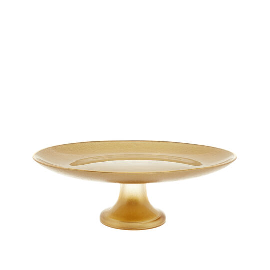 Cake stand in gold glass
