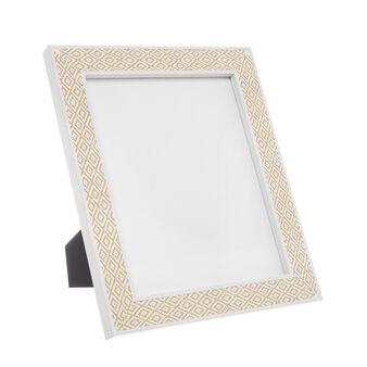 Photo frame with diamond wood