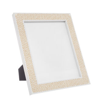 Photo frame with diamond wood