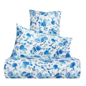 Floral duvet cover set in 100% cotton
