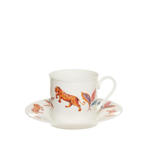 Tazza da tè New Bone China decoro felino