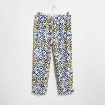 Pantaloni ampi con stampa maioliche