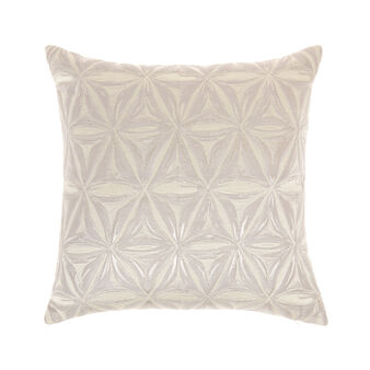 Quilted cushion with star decoration