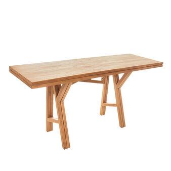Tavolo consolle in teak riciclato T-Table