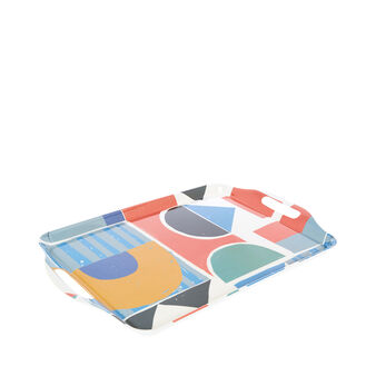 Melamine tray with Bauhaus motif