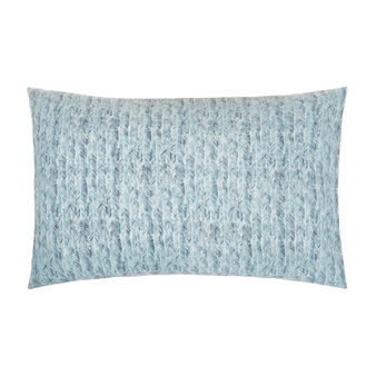 Cotton percale pillowcase with fish bone pattern