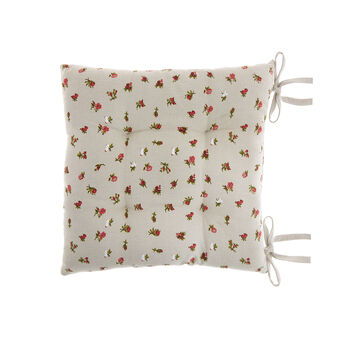 100% cotton seat pad with small flowers print