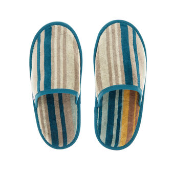100% cotton slippers with multicoloured stripes