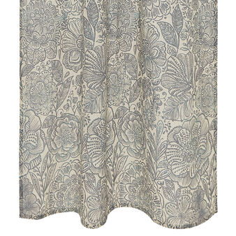 Linen blend curtain with flower print