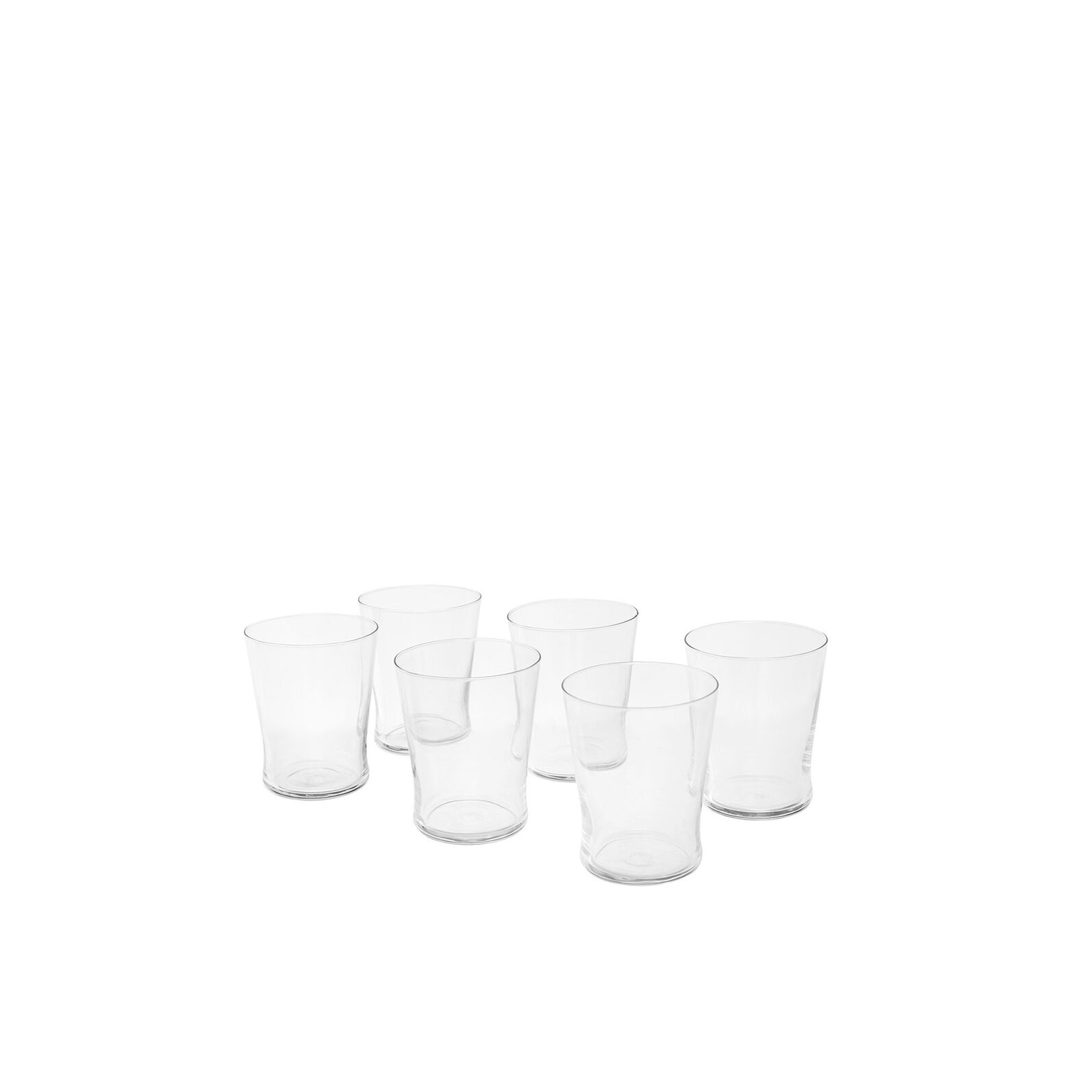 Set of 6 Conic shot glasses