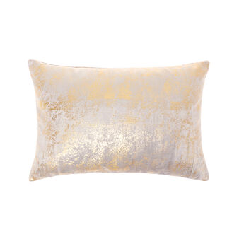 Cushion in spread-effect velvet