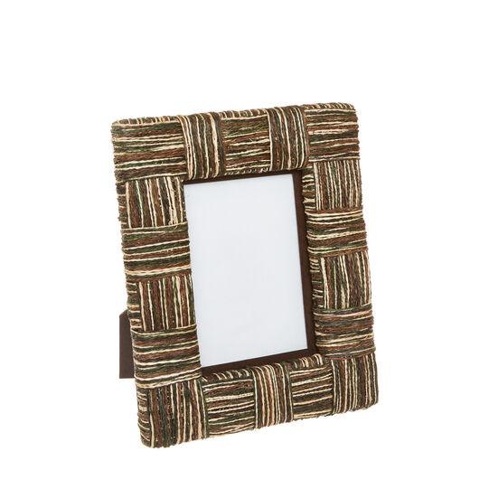 Hand-woven abaca photo frame