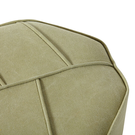 Leaf stool in wood and fabric