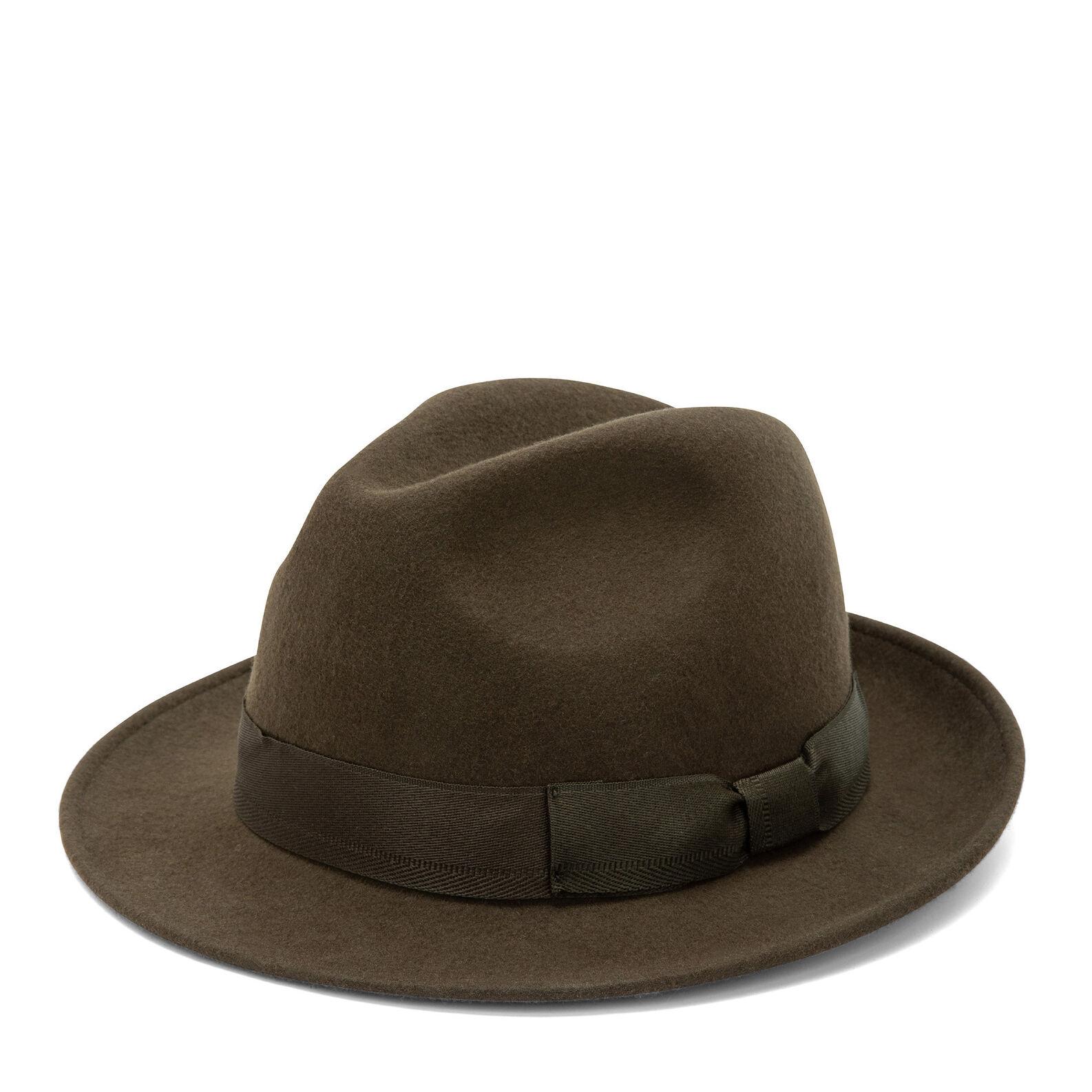 Wide brim hat in pure wool