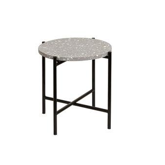 Tavolino Terrazzo in terrazzo veneziano e ferro