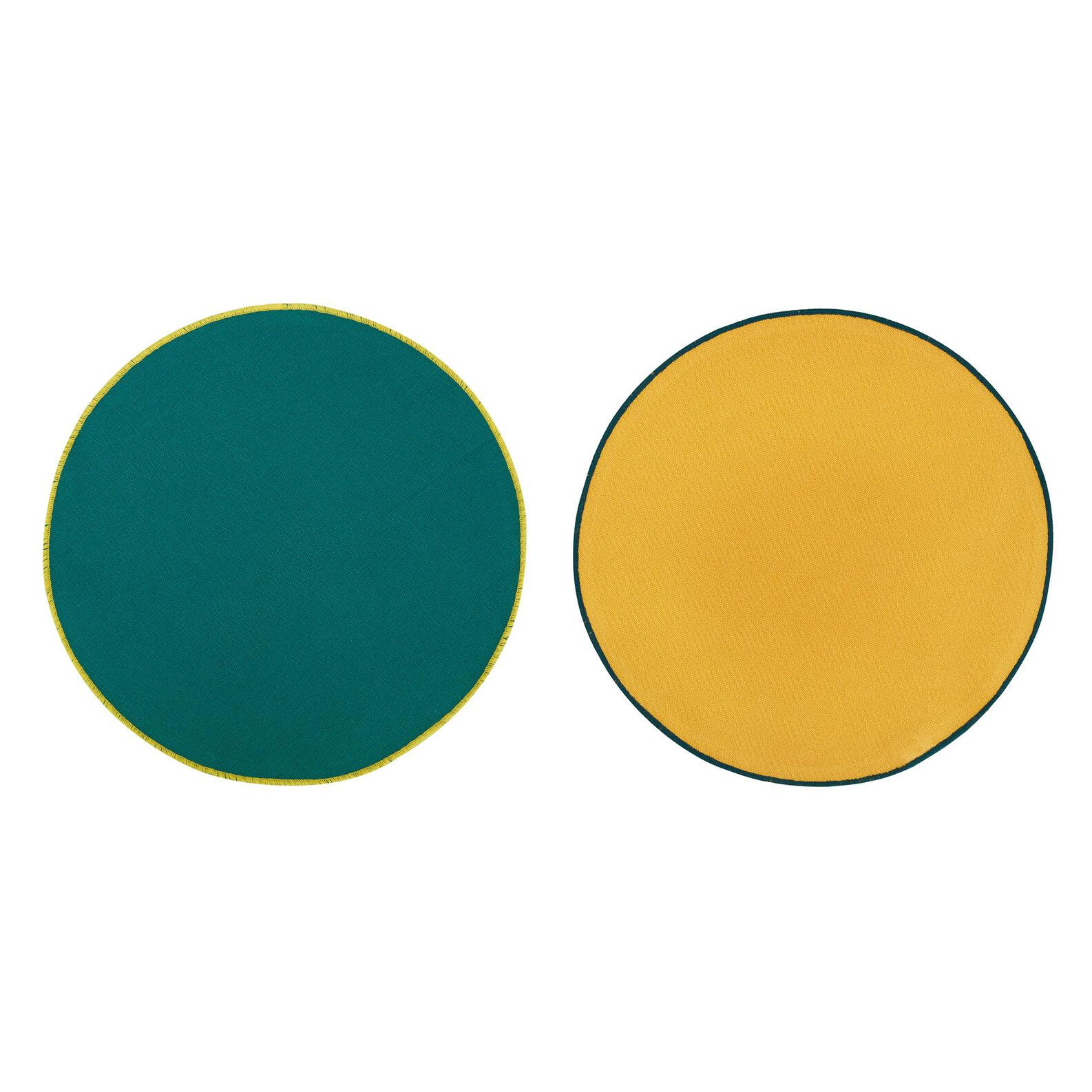 Set of 2 plain color placemats in 100% cotton