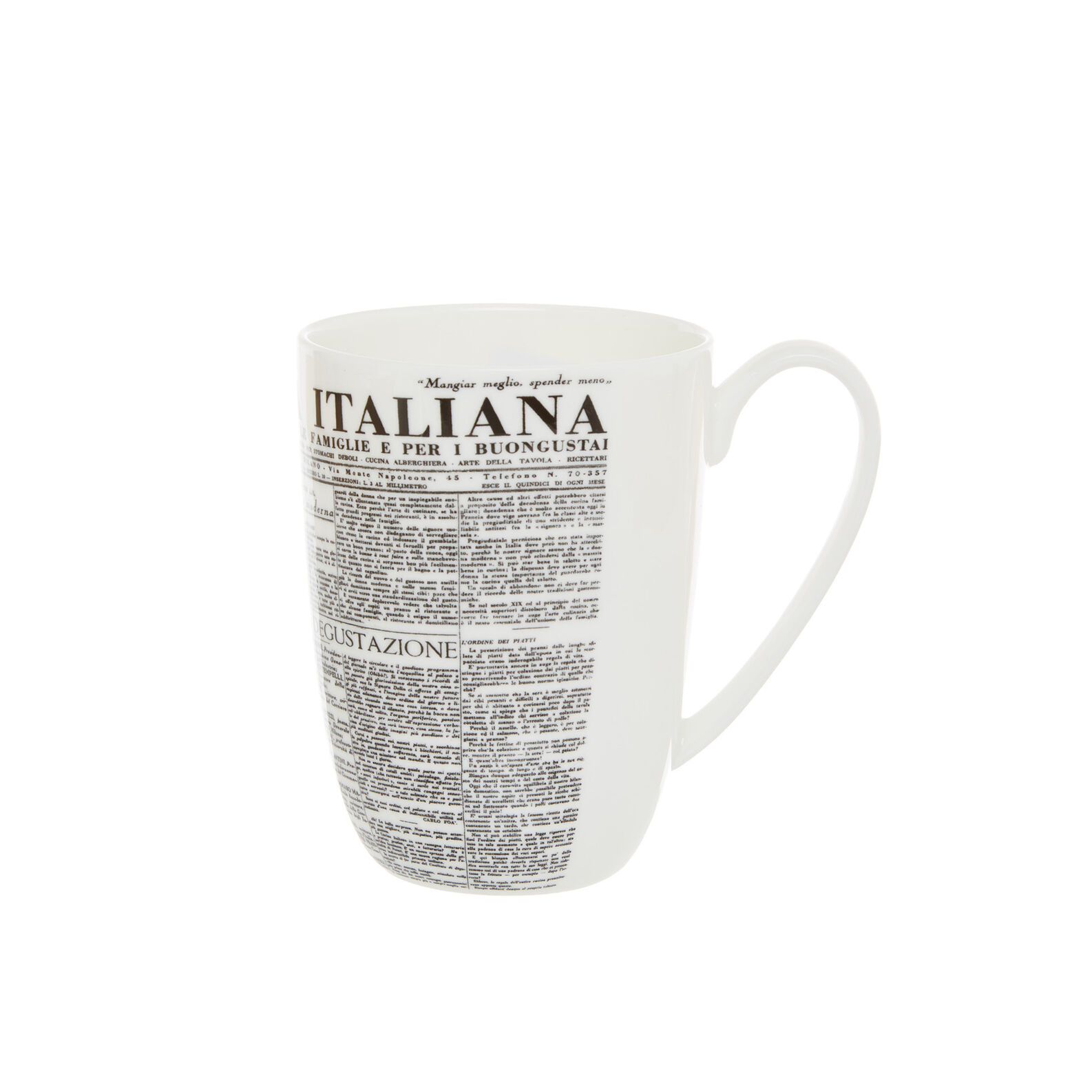 Mug fine bone china decoro geometric La Cucina Italiana