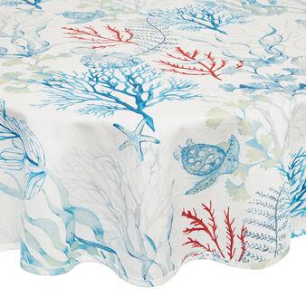 Tovaglia puro cotone organico stampa marina