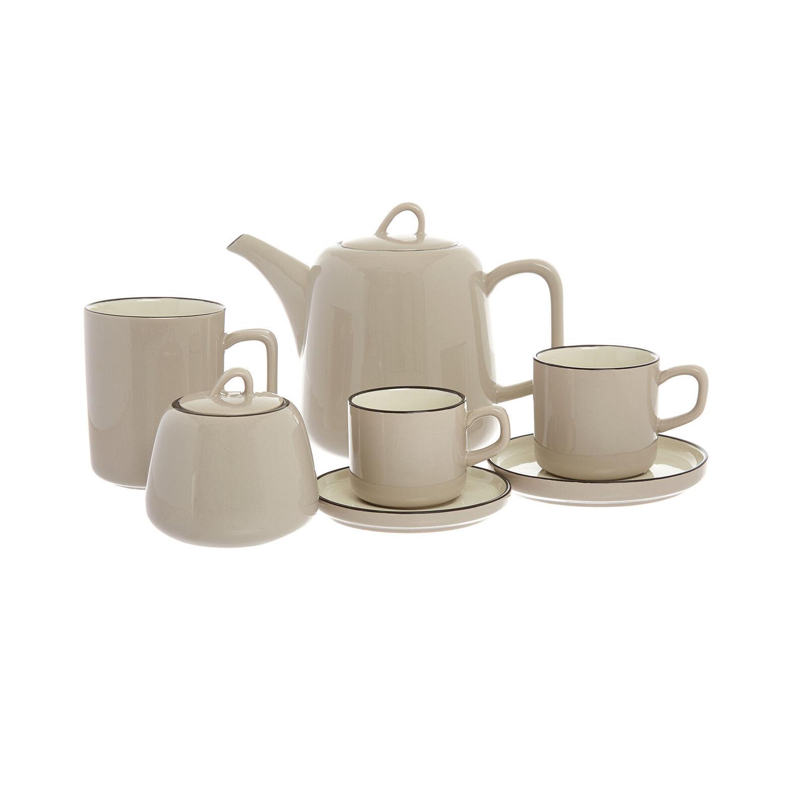 Hard glossy ceramic coffee cup
