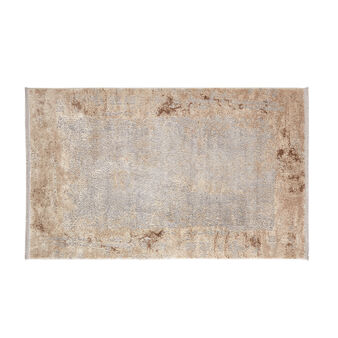 Rug with two-tone faded motif