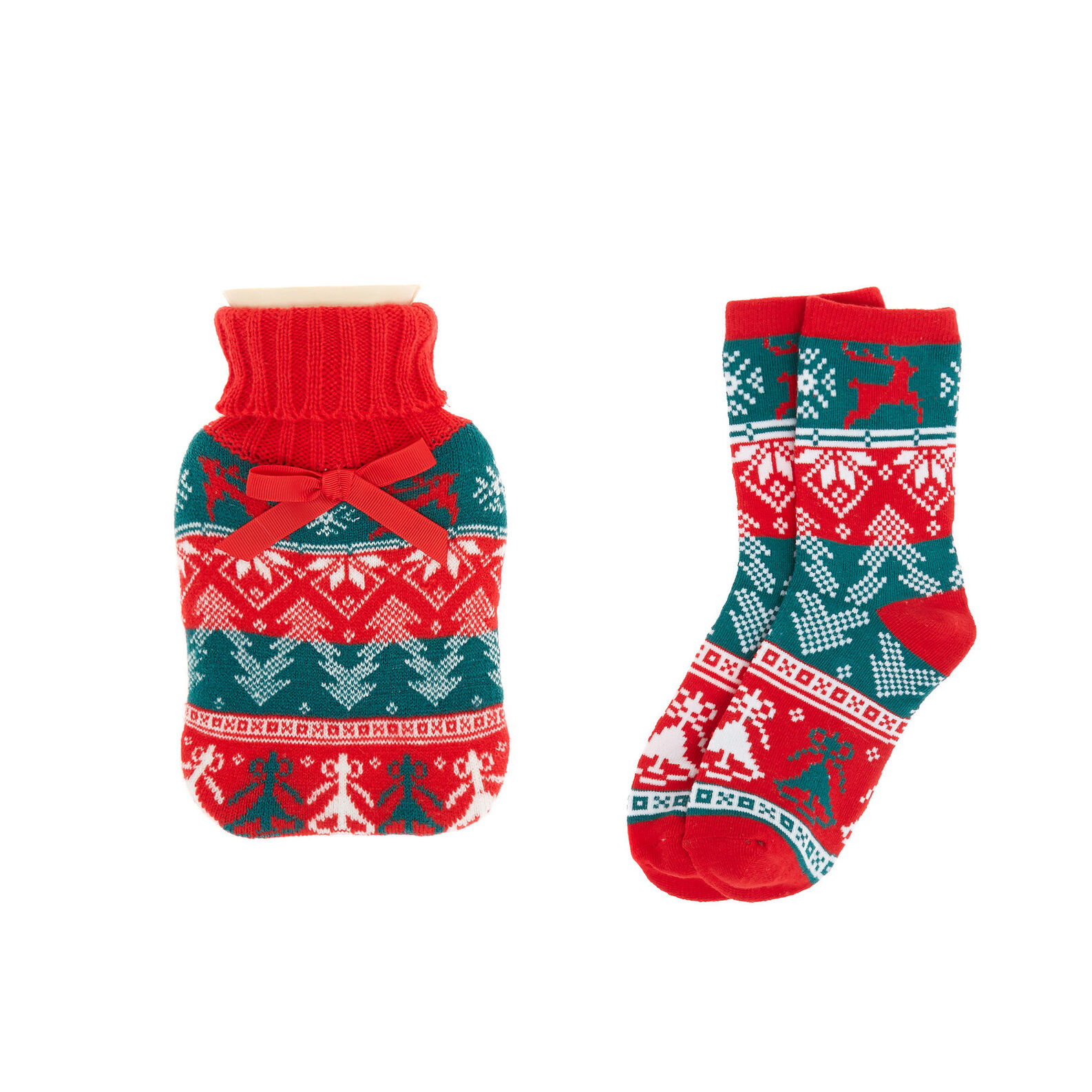 Childrens Christmas bauble and stockings
