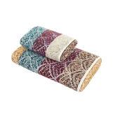 Asciugamano puro cotone motivo ventagli