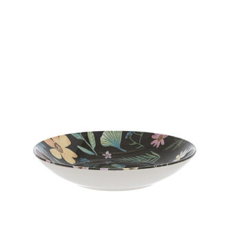 Ceramic soup bowl with flowers print