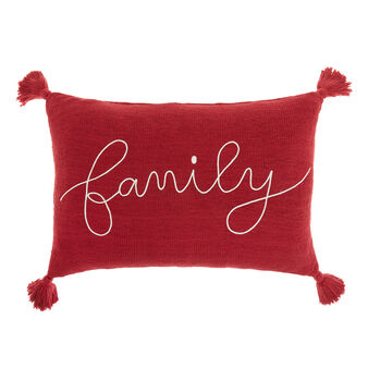 Family cushion in knitted cotton 40x60cm