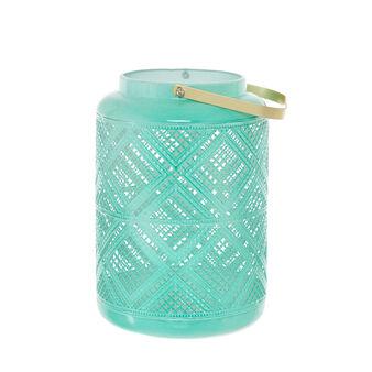 Varnished iron lantern