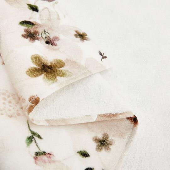 Asciugamano cotone velour stampa fiori