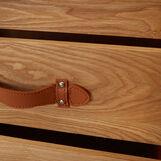 Baule leather-effect wardrobe