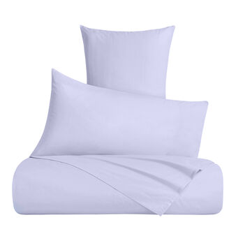 Bed linen set in solid colour cotton percale