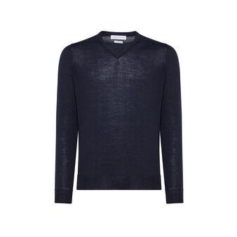 Pullover lana merinos extrafine scollo a V