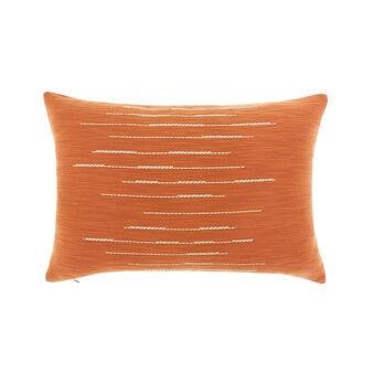 Cuscino misto cotone con impunture 35x55cm