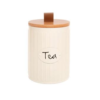 Barattolo in metallo smaltato Tea