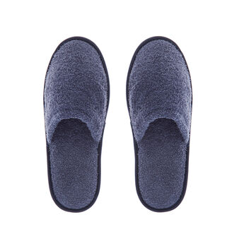 Solid colour cotton slippers