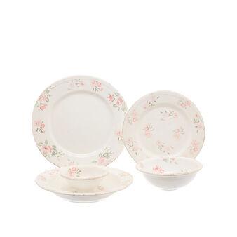 Floral ceramic tableware range