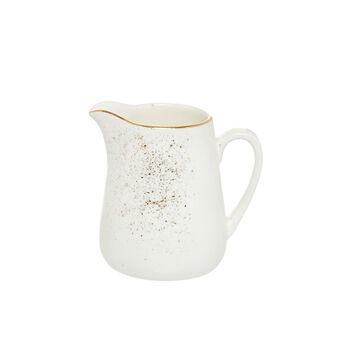 Porcelain milk jug sprayed gold