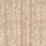 Linen blend curtain with ikat motif