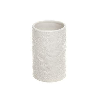 Rose ceramic toothbrush holder