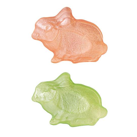 Piattino vetro colorato coniglietto