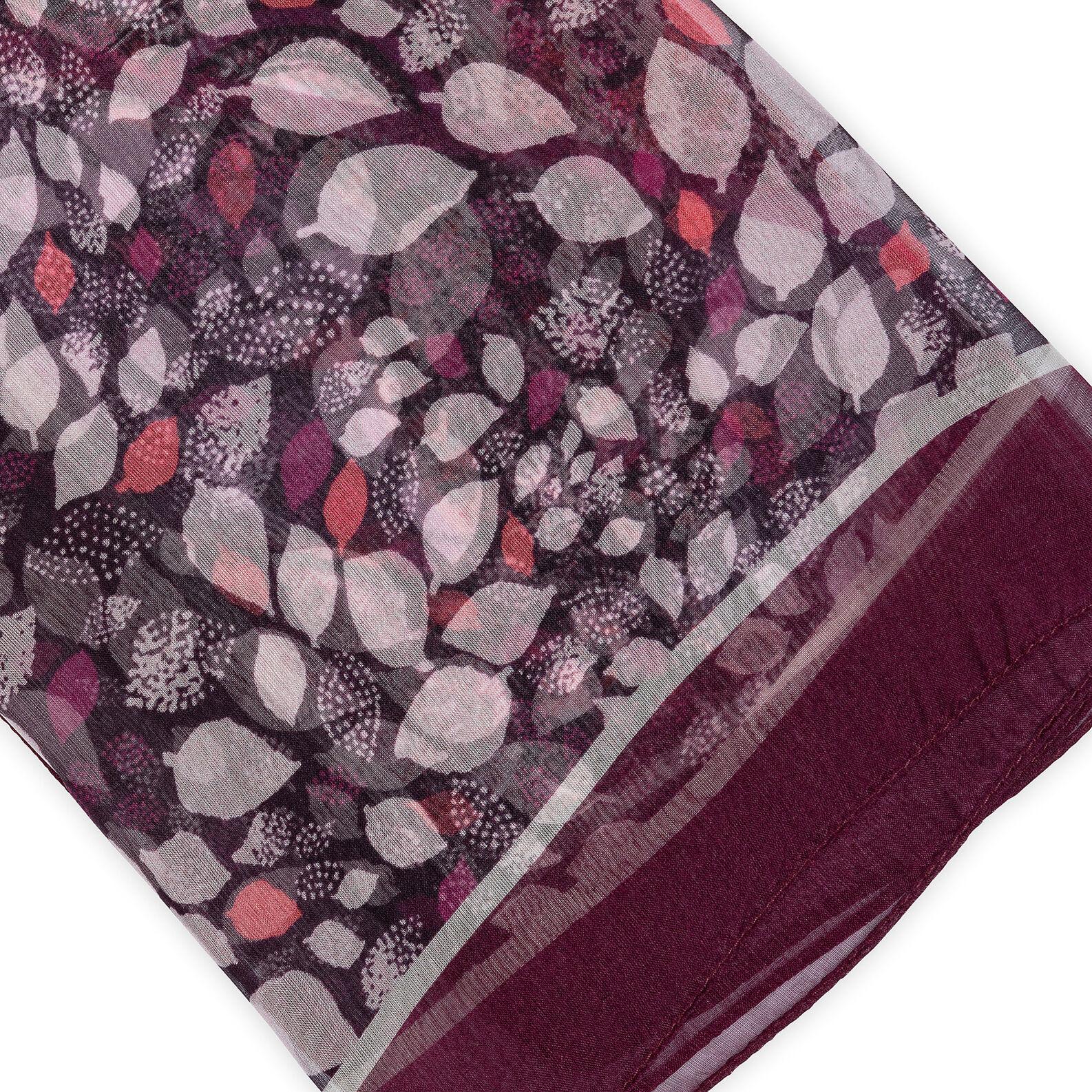 Koan patterned scarf pure silk