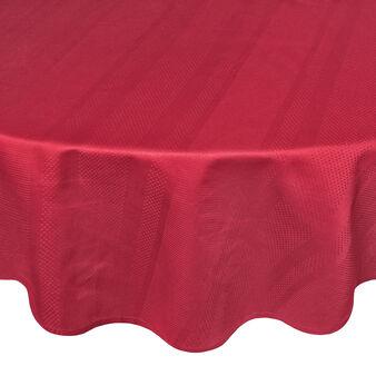 Zefiro round tablecloth in 100% Egyptian cotton jacquard