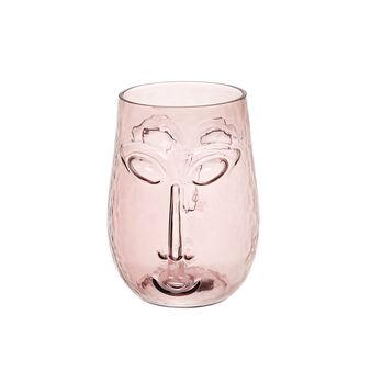 Vaso vetro colorato in pasta a viso